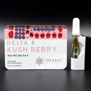 Herbal Aspect - Delta 8 THC Cartridge 1ML - Kush Berry