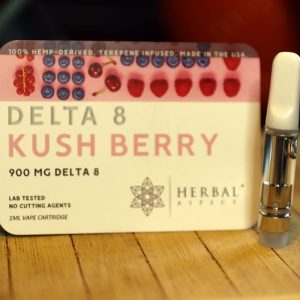 Herbal Aspect - Delta 8 THC Cartridge 1ML - Kush Berry 2