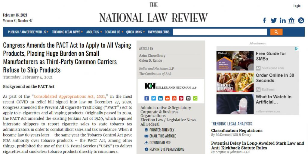 PACT-Act-Amended-by-Congress-to-Apply-to-All-Vaping-Products