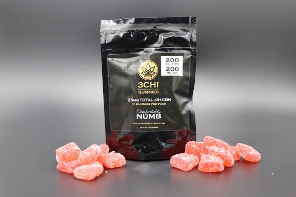 3chi - Delta 8 THC CBN Gummies - Comforatbly Numb - 400MG