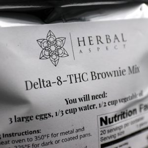 Herbal Aspect Delta 8 THC Brownie Take and Baked Mix 400MG