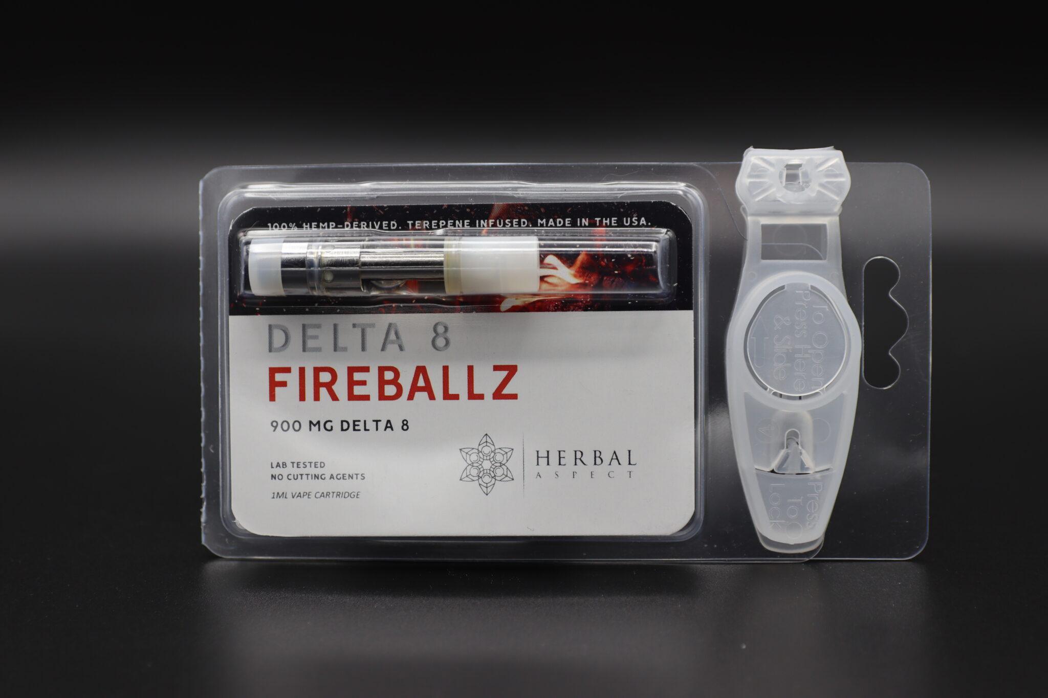 Herbal Aspect Delta 8 Vape - 900 MG -Fireballz
