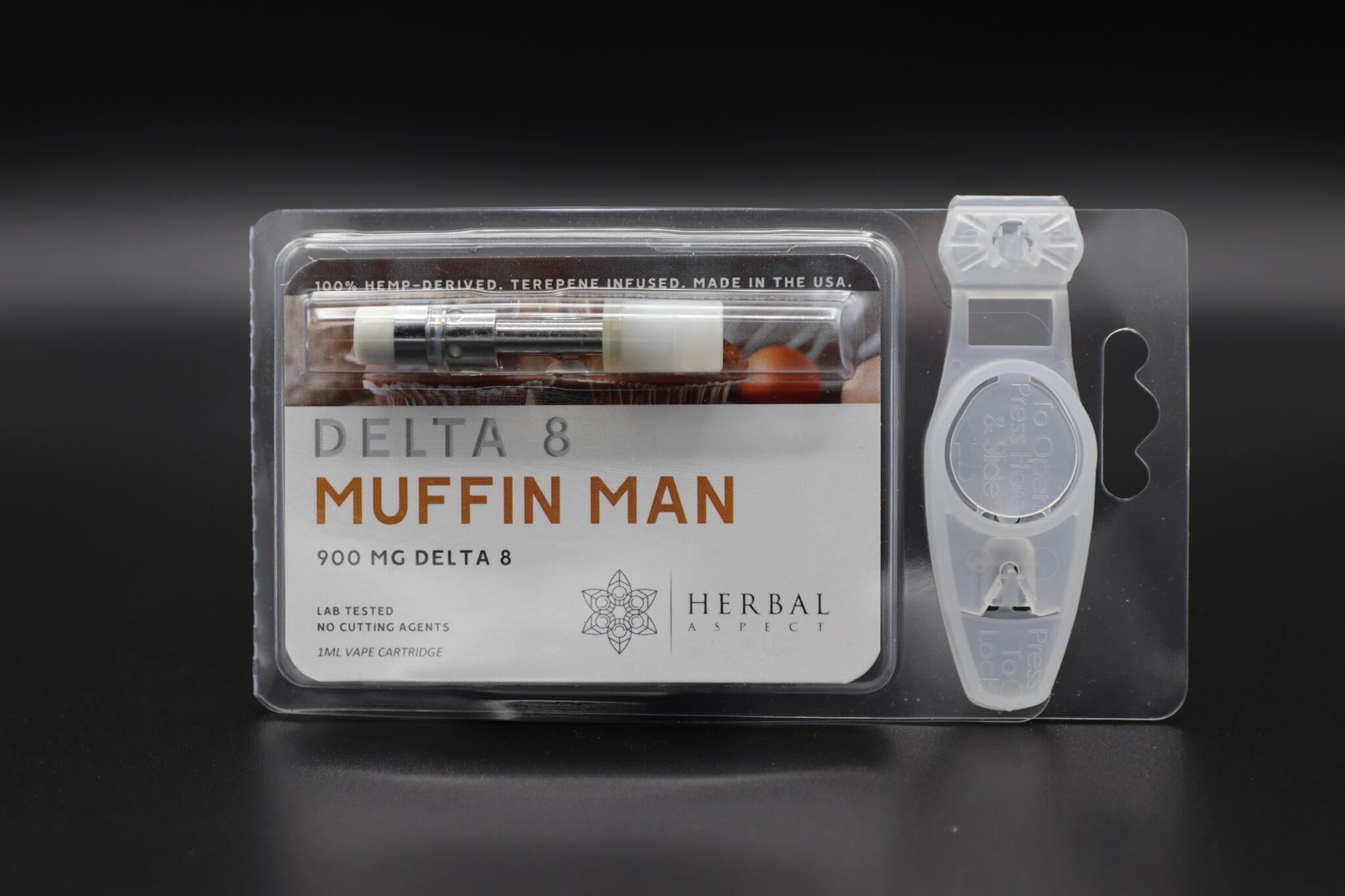 Herbal Aspect Delta 8 Vape - 900 MG - Muffin Man