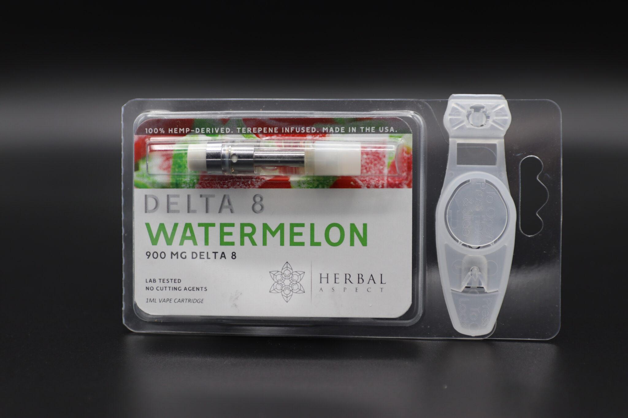 Herbal Aspect Delta 8 Vape - 900 MG -Watermelon
