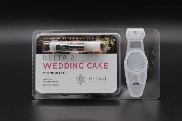 Herbal Aspect Delta 8 Vape - 900 MG -Wedding Cake